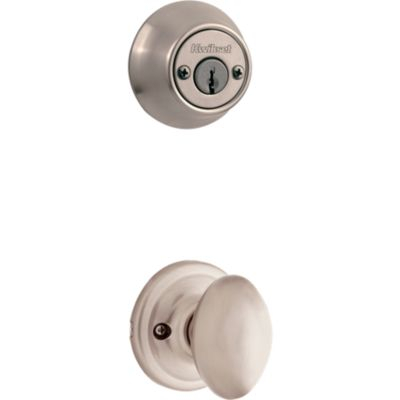 Laurel and Deadbolt Interior Pack - Deadbolt Keyed Both Sides - with Pin & Tumbler - for Kwikset Series 689 Handlesets