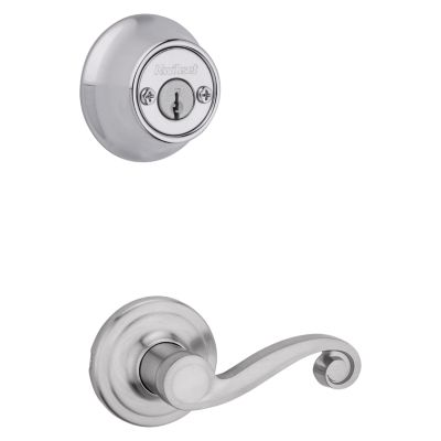 Product Image for Lido and Deadbolt Interior Pack - Left Handed - Deadbolt Keyed Both Sides - with Pin & Tumbler - for Kwikset Series 689 Handlesets