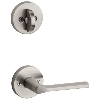 Lisbon and Deadbolt Interior Pack (Round) - Deadbolt Keyed One Side - for Signature Series 800 and 814 Handlesets