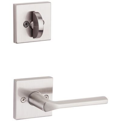 Lisbon and Deadbolt Interior Pack (Square) - Deadbolt Keyed One Side - for Signature Series 800 and 814 Handlesets