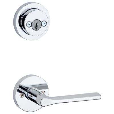 Lisbon and Deadbolt Interior Pack (Round) - Deadbolt Keyed Both Sides - featuring SmartKey - for Signature Series 801 Handlesets