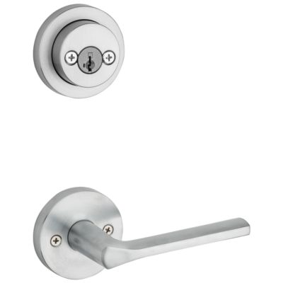 Image for Lisbon and Deadbolt Interior Pack (Round) - Deadbolt Keyed Both Sides - featuring SmartKey - for Signature Series 801 Handlesets