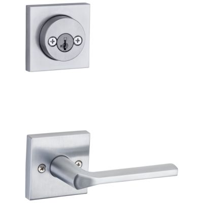 Image for Lisbon and Deadbolt Interior Pack (Square) - Deadbolt Keyed Both Sides - featuring SmartKey - for Signature Series 801 Handlesets