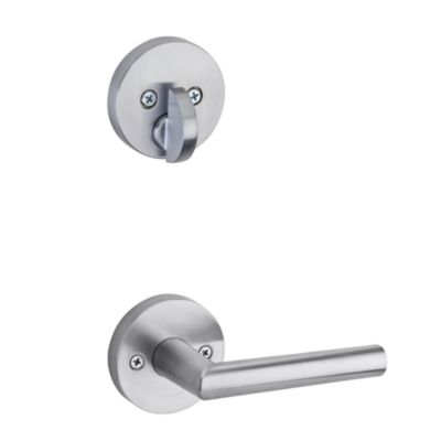 Milan and Deadbolt Interior Pack (Round) - Deadbolt Keyed One Side - for Signature Series 814 and 818 Handlesets