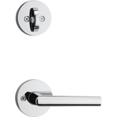 Milan and Deadbolt Interior Pack (Round) - Deadbolt Keyed One Side - for Signature Series 800 and 814 Handlesets