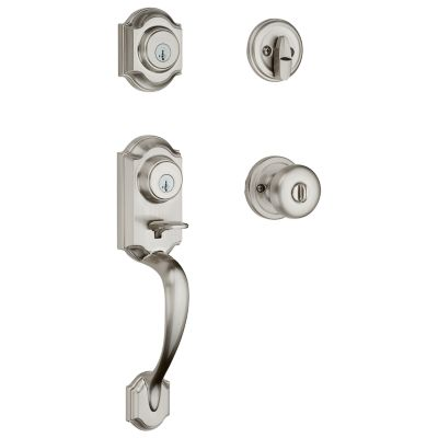 Montara Handleset with Juno Knob - Deadbolt Keyed One Side - featuring SmartKey