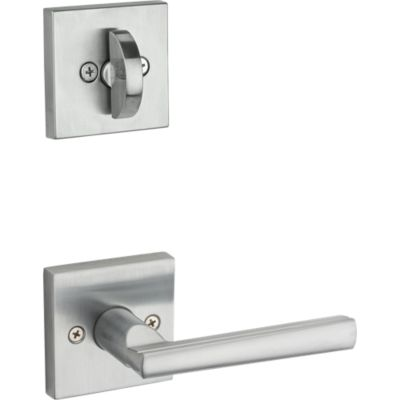 Montreal and Deadbolt Interior Pack (Square) - Deadbolt Keyed One Side - for Signature Series 800 and 814 Handlesets