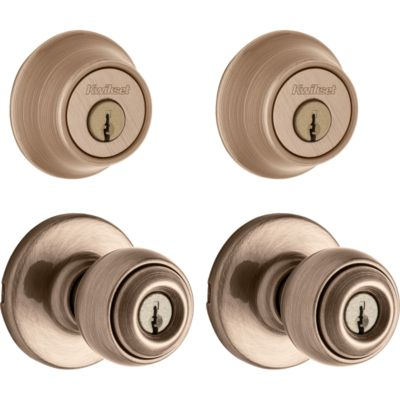 Image for Polo Project Pack - Two Keyed Knobs and Two Keyed One Side Deadbolts - with Pin & Tumbler