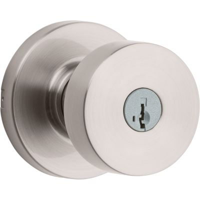 Pismo Knob - Satin Nickel Finish with Smartkey