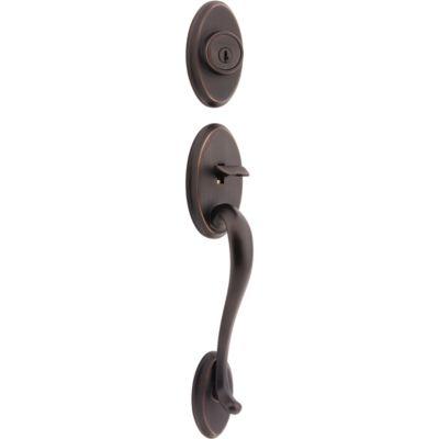 Shelburne Handleset - Deadbolt Keyed Both Sides (Exterior Only) - with Pin & Tumbler