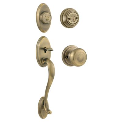 Image for Shelburne Handleset with Juno Knob - Deadbolt Keyed Both Sides - featuring SmartKey