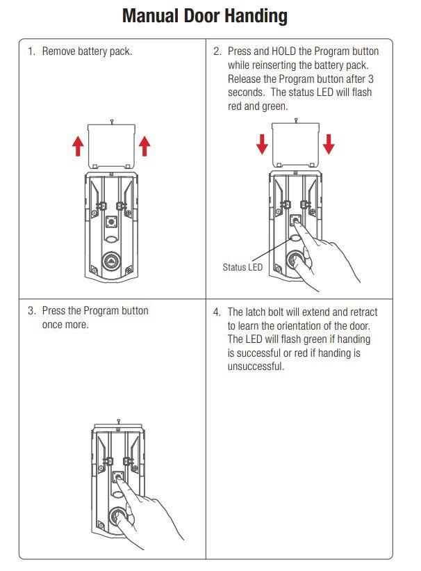 Kwikset smart locks manual door handing steps