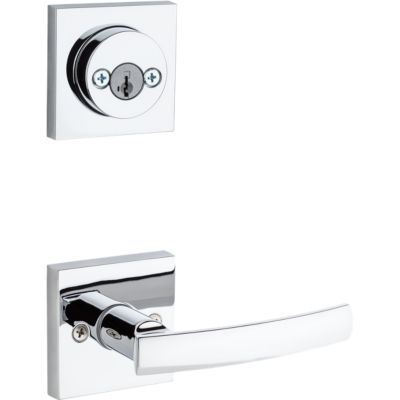 Image for Sydney and Deadbolt Interior Pack (Square) - Deadbolt Keyed Both Sides - featuring SmartKey - for Signature Series 801 Handlesets