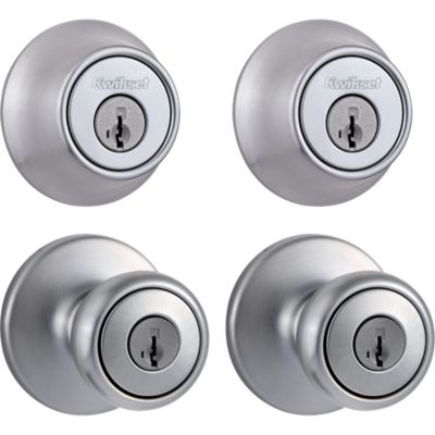 Image for Tylo Project Pack - Two Keyed Knobs and Two Keyed One Side Deadbolts - featuring SmartKey