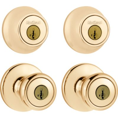 Tylo Project Pack - Two Keyed Knobs and Two Keyed One Side Deadbolts - featuring SmartKey