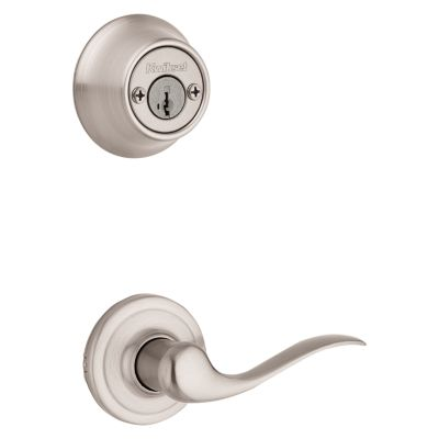 Product Image for Tustin and Deadbolt Interior Pack - Left Handed - Deadbolt Keyed Both Sides - featuring SmartKey - for Kwikset Series 689 Handlesets