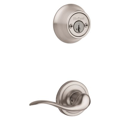 Product Image for Tustin and Deadbolt Interior Pack - Right Handed - Deadbolt Keyed Both Sides - featuring SmartKey - for Kwikset Series 689 Handlesets