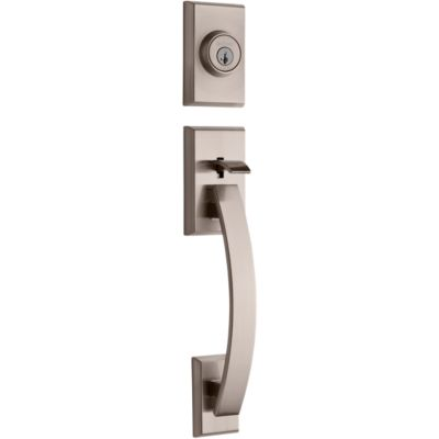 Tavaris Handleset - Deadbolt Keyed Both Sides (Exterior Only) - featuring SmartKey