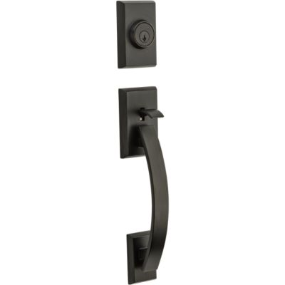 Tavaris Handleset - Deadbolt Keyed One Side (Exterior Only) - featuring SmartKey