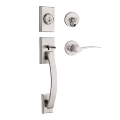Tavaris Handleset with Katara Lever - Deadbolt Keyed One Side - featuring SmartKey
