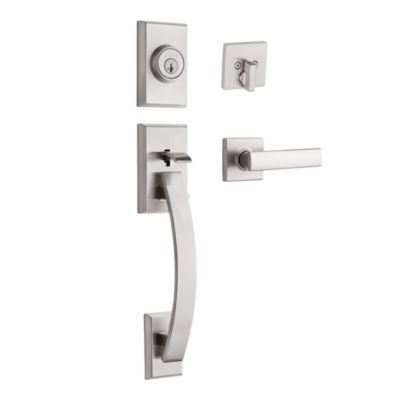 Image for Tavaris Handleset with Vedani Lever - Deadbolt Keyed One Side - featuring SmartKey