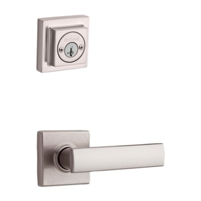 Product Image for Vedani and Deadbolt Interior Pack (Square) - Deadbolt Keyed Both Sides - featuring SmartKey - for Signature Series 801 Handlesets