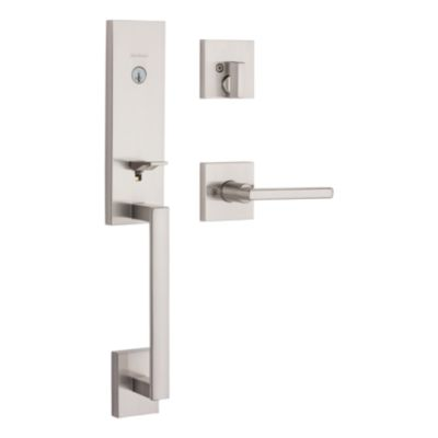 Image for Vancouver Handleset with Halifax Lever - Deadbolt Keyed One Side - featuring SmartKey