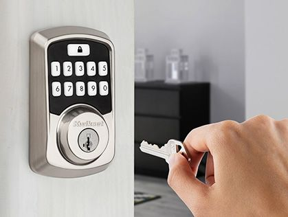 Traditional Keyway with Aura Smart Bluetooth Door Lock