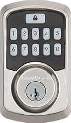 Satin Nickel Aura Smart Bluetooth Door Lock