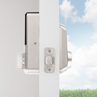 Aura Smart Bluetooth Door Lock Side Videw