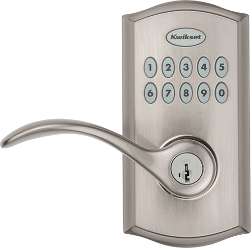 SmartCode 955 commercial keypad door lock in Satin Nickel