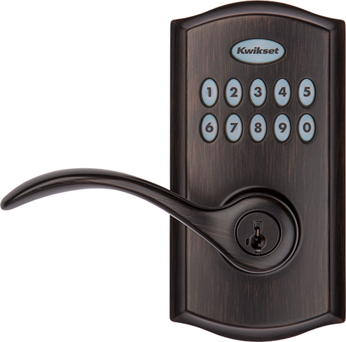 SmartCode 955 commercial keypad door lock in Venetian Bronze
