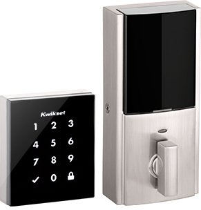 Kwikset Obsidian touchscreen digital deadbolt in Satin Nickel