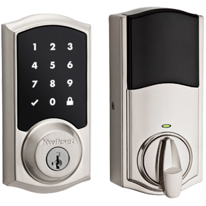 Premis Apple Compatible Lock – Traditional Style in Satin Nickel