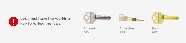 You will need your current working key, smartkey tool, and your new key