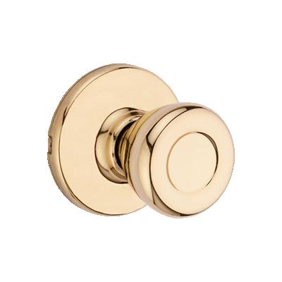 Tylo Knob - Polished Brass Finish with Microban